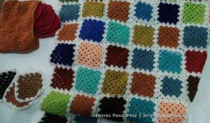 granny square; crochet, blanket