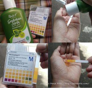 cek pH resik v godokan sirih