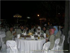 jamuan makan di rumah dinas Gubernur Bali